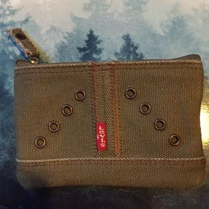 Brand new Levi's olive green canvas wallet